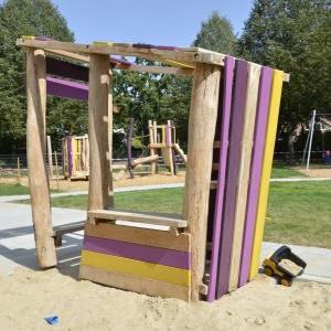 kita, spielplatz, spielhaus, robinie, playground, playhouse, robinia, holz, wood
