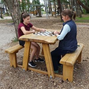 holz, wood, robinie, robinia, spielplatz, playground, sitzgruppe, suite, schach, chess