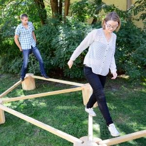 holz, wood, robinie, robinia, spielplatz, playground, sitzgruppe, suite, banacieren, balancing, mobil