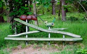 holz, wood, robinie, robinia, spielplatz, playground, skulptur, sculpture, ameise, ant