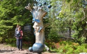 holz, wood, robinie, robinia, spielplatz, playground, skulpturen, sculptures, wasserfrau