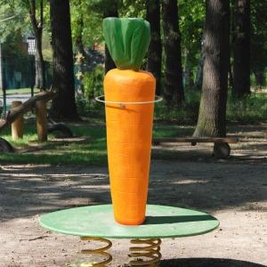 holz, wood, robinie, robinia, spielplatz, playground, wippe, seasaw, moehre, carrot