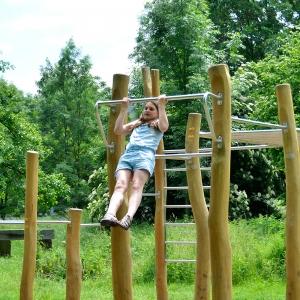 holz, wood, robinie, robinia, spielplatz, playground, fitnessparcours, fitness course, calistenics