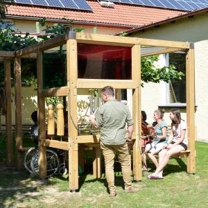 holz, wood, robinie, robinia, spielplatz, playground, spielwuerfel, play cube, musik, music