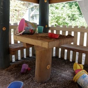 holz, wood, robinie, robinia, spielplatz, playground, spielhauskombination, playhouse combination, cafe