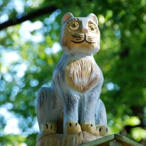 holz, wood, robinie, robinia, spielplatz, playground, skulptur, sculpture, katze, cat