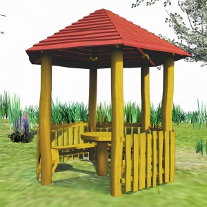 holz, wood, robinie, robinia, spielplatz, playground, pavillon, pavilion