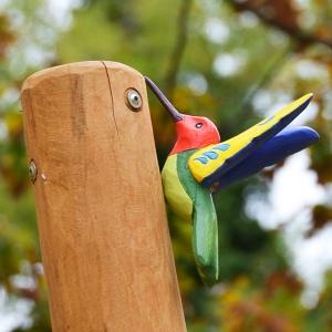holz, wood, robinie, robinia, spielplatz, playground, applikation, application, kolibri, humming bird
