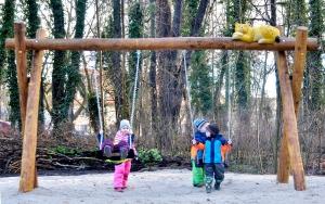 holz, wood, robinie, robinia, spielplatz, playground, tierpark, zoo, schaukel, swing, luchs,  luckenwalde