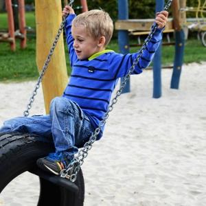 holz, wood, robinie, robinia, spielplatz, playground, schaukelsitz mit reifen, swing seat with tires