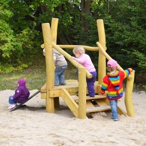 holz, wood, robinie, robinia, spielplatz, playground, spielanlage, multi unit, kleinkinder, toddlers, u3