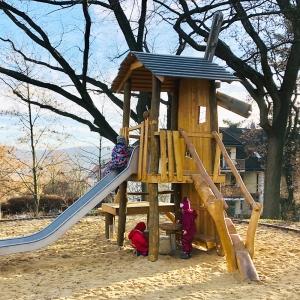 holz, wood, robinie, robinia, spielplatz, playground, spielanlage, multi unit, windmuehle, windmill
