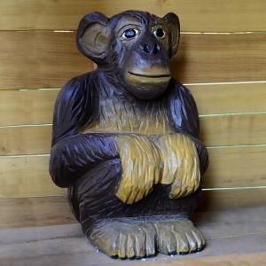 holz, wood, robinie, robinia, spielplatz, playground, spielskulptur, play sculpture, affe, monkey