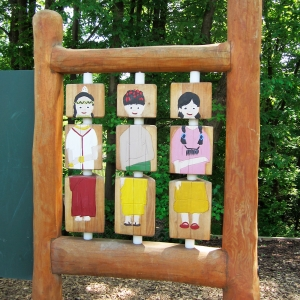 holz, wood, robinie, robinia, spielplatz, playground, sinnspiel, sensory game, kleines drehspiel, small rotary play