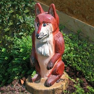 holz, wood, robinie, robinia, spielplatz, playground, spielskulptur, play sculpture, fuchs, fox