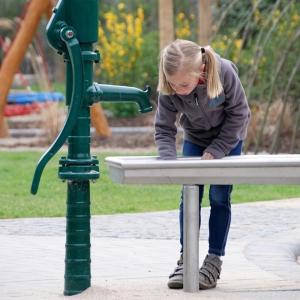 edelstahl, stainless steel, spielplatz, playground, wasserspielanlage, water play unit